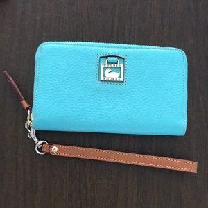 Turquoise/Mint Dooney & Bourke wristlet/wallet